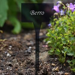 Acrílico plantar signos cuadrado gris, aburrido - diferente nombre de la planta o poseer el texto – Bild 9
