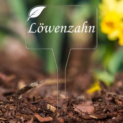Acrylglas Kräuterschilder Eckig V2 farblos - Pflanzschilder, Gartenstecker, Pflanzenstecker - Kräuterauswahl – Bild 25