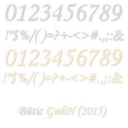 Acrylic glass numbers cream and light gray - MT - incl. Sentence and special characters - 3mm acrylic glass - size selection