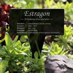 Acrylglas Kräuter Pflanztafel Eckig schwarz - Gartenstecker Kräuterschilder – Bild 13