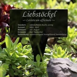 Acrylglas Kräuter Pflanztafel Eckig schwarz - Gartenstecker Kräuterschilder – Bild 22
