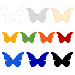 Acrylic glass wall decoration butterfly in various colors and sizes to choose from