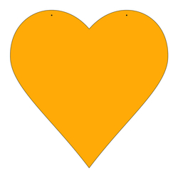 Plexiglas® Zuschnitt Acryl Herz Wanddeko in verschiedenen Farben und Größen – Bild 5