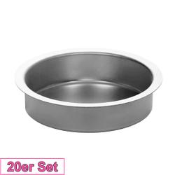Kerzenhalter Silber 60mm - Kerzen Tülle für Standard Kerzen, Stumpenkerzen – Bild 3