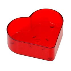 Herz Kunststoff Teelichthüllen 56x50mm - Kerzengießen Herzform 001