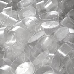 runde Kunststoff Teelichthüllen 37x19mm - Kerzengießen klassische Rundform – Bild 5