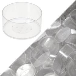 runde Kunststoff Teelichthüllen 37x19mm - Kerzengießen klassische Rundform – Bild 6