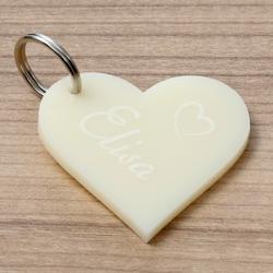 Farbige Acrylglas Liebes-Anhänger individuell graviert Schlüsselanhänger – Bild 17