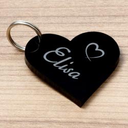Farbige Acrylglas Liebes-Anhänger individuell graviert Schlüsselanhänger – Bild 18