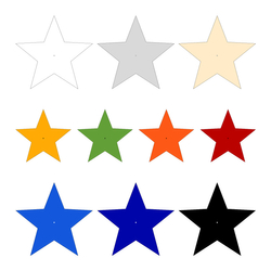 Acrylic glass wall decoration star in various colors and sizes to choose from