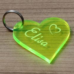 NEON Acrylglas Liebes-Anhänger individuell graviert Schlüsselanhänger – Bild 14