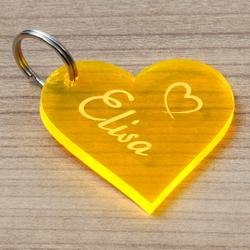 NEON Acrylglas Liebes-Anhänger individuell graviert Schlüsselanhänger – Bild 15
