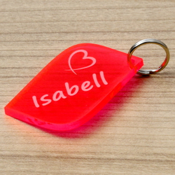 NEON Acrylglas Liebes-Anhänger individuell graviert Schlüsselanhänger – Bild 16
