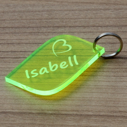 NEON Acrylglas Liebes-Anhänger individuell graviert Schlüsselanhänger – Bild 17