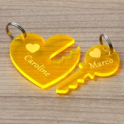 NEON Acrylglas Liebes-Anhänger individuell graviert Schlüsselanhänger – Bild 6