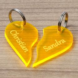 NEON Acrylglas Liebes-Anhänger individuell graviert Schlüsselanhänger – Bild 9