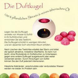 farbige Dufthalbkugeln - Stearin Duftkugeln im Geschenk Glaszylinder – Bild 12