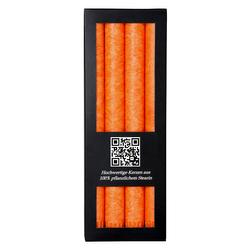 4er Pack durchgefärbte Stabkerzen 250mm x 22mm - rußarme Stearin-Kerzen – Bild 5