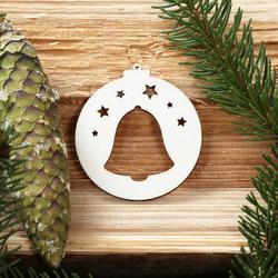 Baumkugeln mit Weihnachtsmotiven - Baumschmuck, Baumbehang - Deko aus Holz – Bild 5