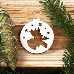 Tree baubles with Christmas motifs - tree decorations, christmas tree decoration - wood decoration