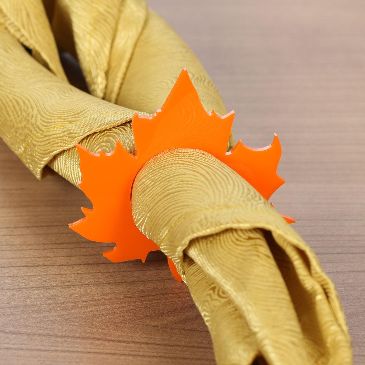 Plexiglas® 6er Sets Serviettenringe orange rot hellblau blau schwarz Serviettenhalter