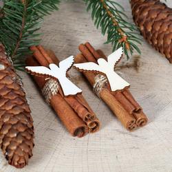 Zimtstangen mit Weihnachtsmotiven - Motiv aus Holz - Weihnachtsschmuck – Bild 1