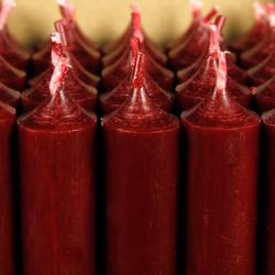 durchgefärbte Stabkerzen 250mm x 22mm - hochgereinigte Kerzen mit rückstandsfreiem Abbrand – Bild 6