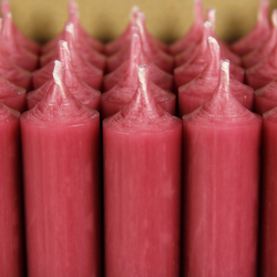 durchgefärbte Stabkerzen 250mm x 22mm - hochgereinigte Kerzen mit rückstandsfreiem Abbrand – Bild 9