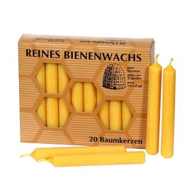 20er Pack Bienenwachs Baumkerzen mit typischem Bienenwachsduft