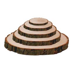 Rindenbrett Esche rund - Rindenscheibe Baumscheibe geschliffen Holzbrett – Bild 3