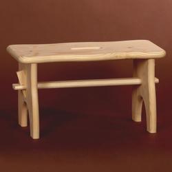 Bütic Holz-Fussbank, Tritthocker, Holzbank aus nachhaltig hergestelltem FSC-zertifiziertem Nadelholz – Bild 3