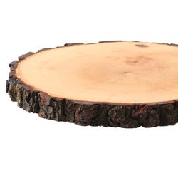 Rindenbrett lackiert rund - Rindenscheibe Baumscheibe Wurstbrett Käsebrett – Bild 3