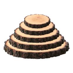 Rindenbrett lackiert rund - Rindenscheibe Baumscheibe Wurstbrett Käsebrett – Bild 4