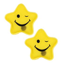 Taschenwärmer Sets - gelber Stern Smiley - Handwärmer Heizpad Firebag