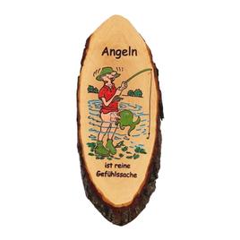 Spruch-Rindenbretter oval lackiert Wandbrett Türschild Holzschild