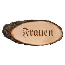 Gravierte ovale Rindenbretter Holzbrett Baumscheibe Türschild – Bild 6