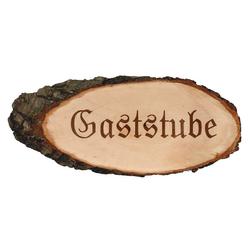 Gravierte ovale Rindenbretter Holzbrett Baumscheibe Türschild – Bild 7
