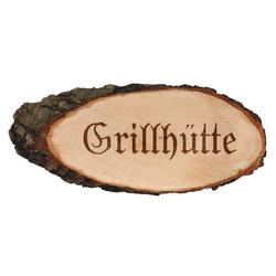 Gravierte ovale Rindenbretter Holzbrett Baumscheibe Türschild – Bild 8