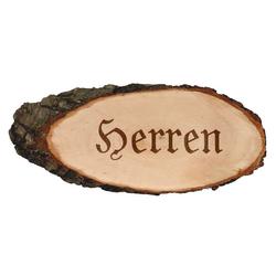 Gravierte ovale Rindenbretter Holzbrett Baumscheibe Türschild – Bild 9