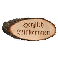 Gravierte ovale Rindenbretter Holzbrett Baumscheibe Türschild – Bild 10