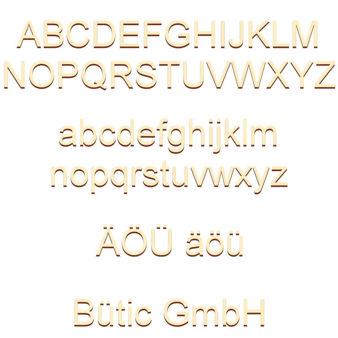 Holz Buchstaben - Arial - Wunschtext/Schriftzug mit Größenauswahl