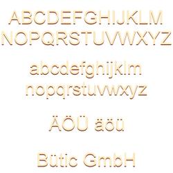 Sperrholz Buchstaben - Arial - Wunschtext/Schriftzug mit Größenauswahl - Pappel 3mm