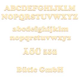 Sperrholz Buchstaben - Cooper - Wunschtext/Schriftzug mit Größenauswahl - Pappel 3mm