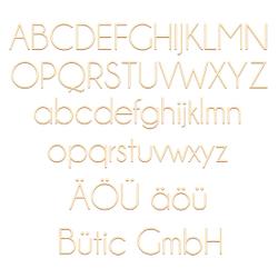 Sperrholz Buchstaben - Campagne - Wunschtext/Schriftzug mit Größenauswahl - Pappel 3mm