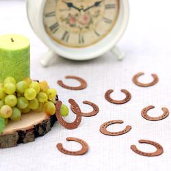 Echtholz Furnier Streudeko - Hufeisen - Wurfdeko, Tischdeko in 30mm aus - Farb- und Mengenauswahl – Bild 5