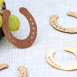 Echtholz Furnier Streudeko - Hufeisen - Wurfdeko, Tischdeko in 30mm aus - Farb- und Mengenauswahl – Bild 8