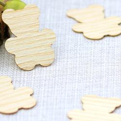 Echtholz Furnier Streudeko - Teddy - Wurfdeko, Tischdeko in 30mm aus - Farb- und Mengenauswahl – Bild 2