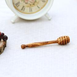 Bütic Honigheber Honiglöffel Olivenholz oder Buche FSC-zertifiziertes Holz – Bild 3