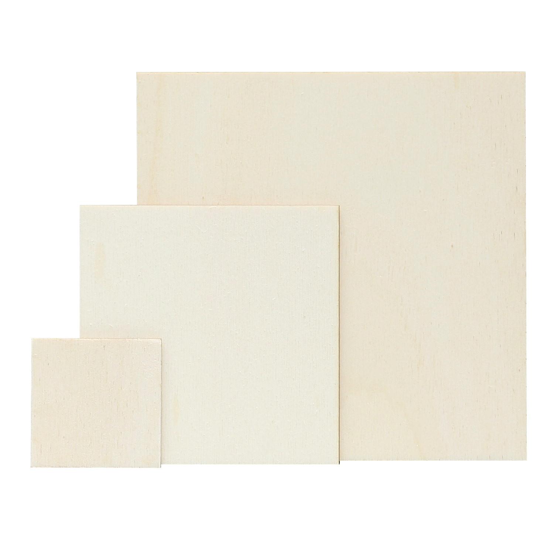 sperrholz quadrate holzscheiben zuschnitte 3mm in vielen verschiedenen gr en ebay. Black Bedroom Furniture Sets. Home Design Ideas