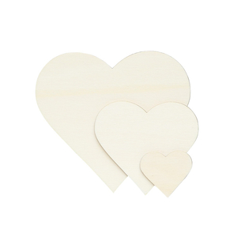 Sperrholz Zuschnitte - Herzen - Größenauswahl - Pappel 3mm